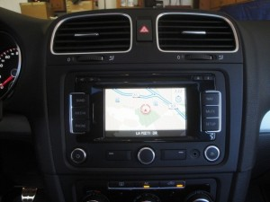 Because the car came with the OEM nav, we decided to retain it.