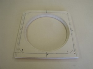 This is the flush mounting spacer piece for the subwoofer before and after vinyl
