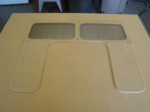 Here are the grilles before and after carpeting